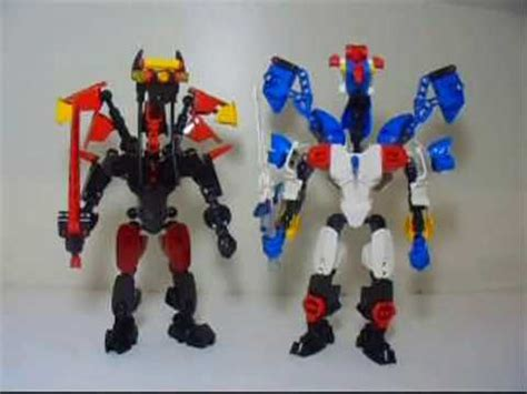 lego mocs: zenowing and doomwing from power rangers dino