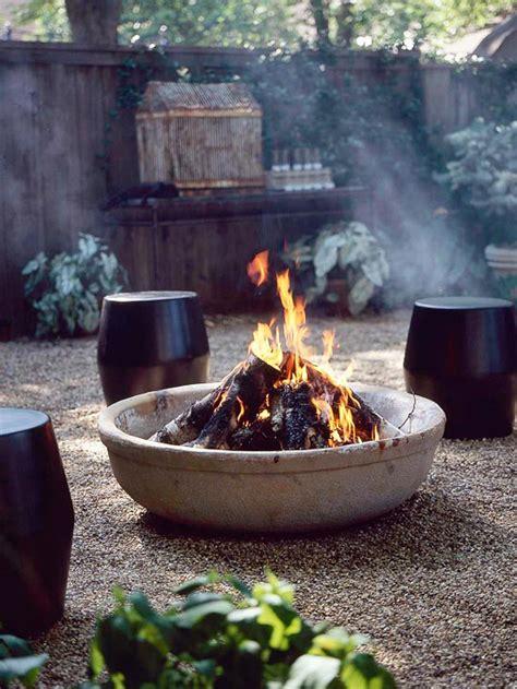 offene feuerstelle im garten 12 kreative ideen f 252 r patio bereich originelle