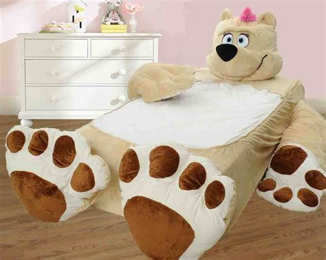 teddy bear bed incredibeds twin bed cover teddy bear beige for kids ebay
