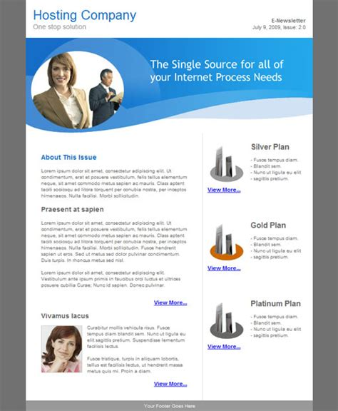 Mailer Template email templates for email newsletter caign