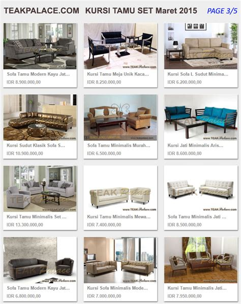 Daftar Kursi Tamu Minimalis Murah harga sofa kursi tamu minimalis set maret 2015 murah kursi