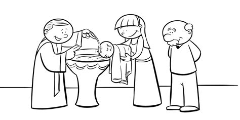 coloring pages baby baptism sacraments coloring pages