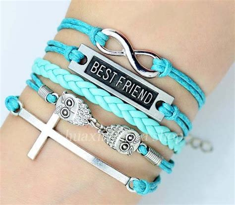 blue combination bracelet infinity with best
