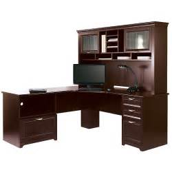 Office Depot Desk Hutch Realspace Magellan Performance Collection L Desk W Hutch Cherry 956697 956679 Desks Tables