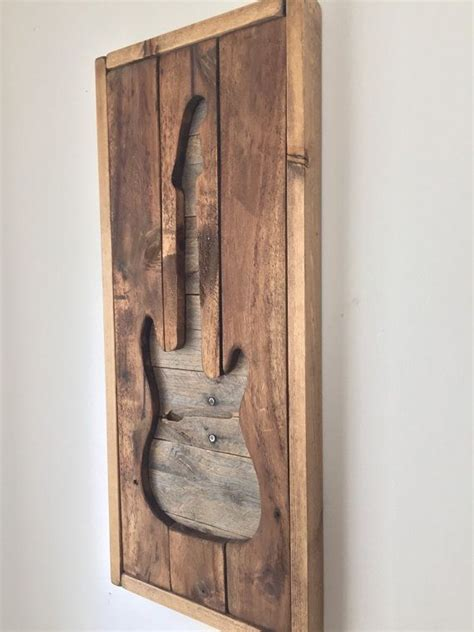 rustic wall decor electirc guitar  shoponelove  etsy
