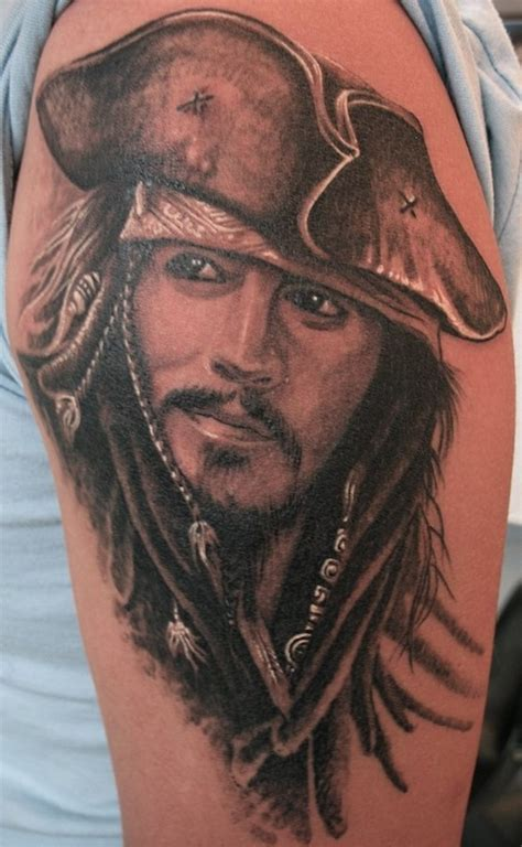 pirate face tattoo pirate tattoos