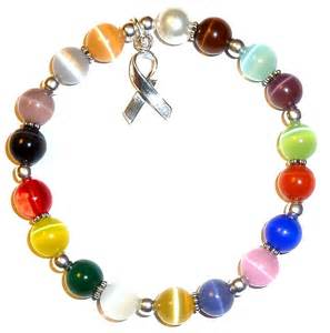 bracelets colors cancer awareness bracelet sterling silver 18 colors 8mm