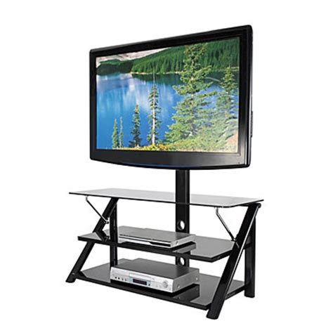 tv stands big lots 44 quot swivel black glass tv stand big lots