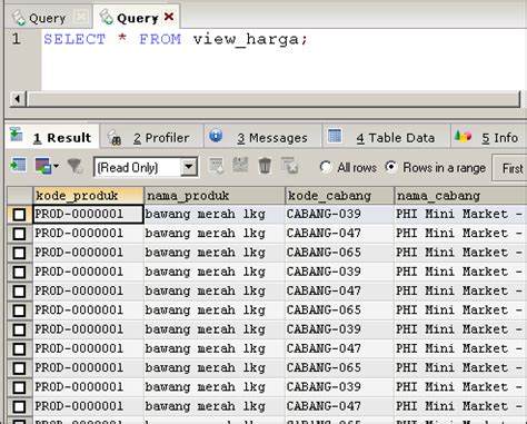 membuat view pada database mysql membuat view di mysql mysql tutorial bahasa indonesia