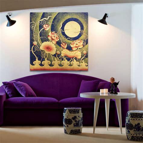 metal sculpture lotus pond hotel decoration home decor lotus flower wall art under thai golden moon royal thai art
