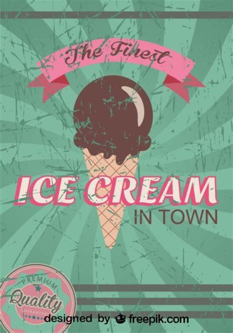 design poster ice cream retro ice cream poster design finest quality vector free
