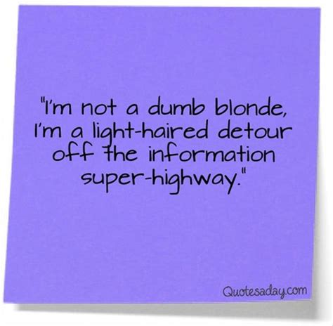 Blonde Hair Quotes Funny