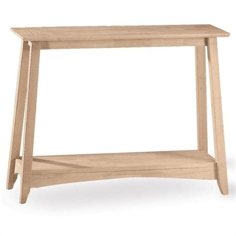 Unfinished Sofa Table by International Concepts Bombay Unfinished Sofa Console