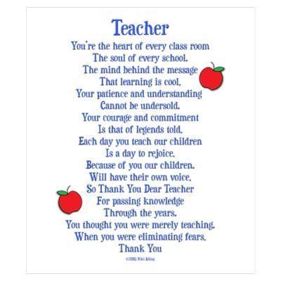1000 ideas about thank you teacher poems on pinterest teacher poems
