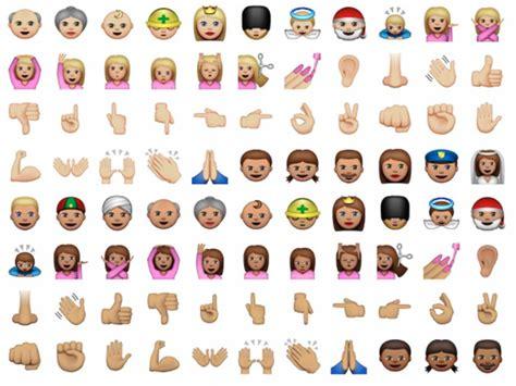 ethnically diverse emoji apple