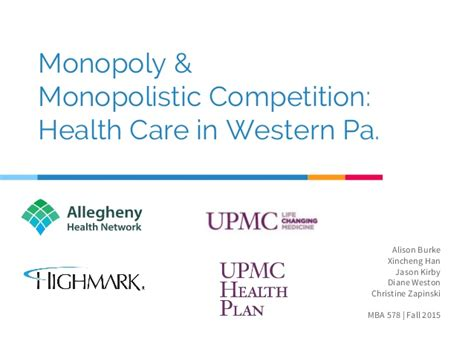 Competition And Monopoly In Care monopoly monopolistic competition presentation final