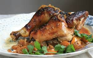 molasses glazed chicken recipe whole roasted with lemons