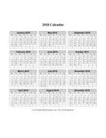 2018 Calendar Starting Monday Printable 2018 Calendar On One Page Vertical Week Starts