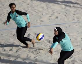Egypt s doaa elghobashy right sets up for teammate nada meawad