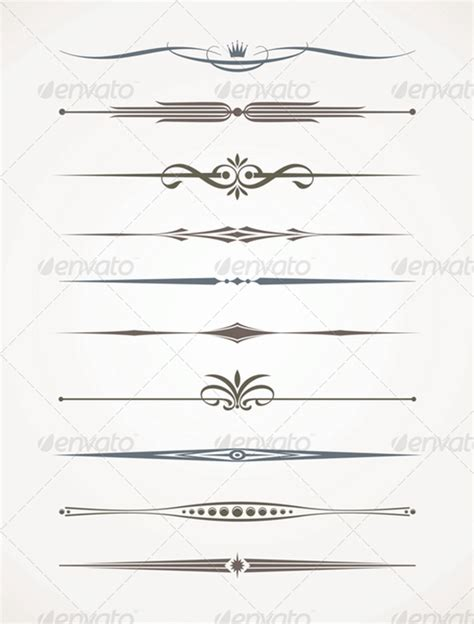 line templates for photoshop 40 best collection of dividing vectors elements for