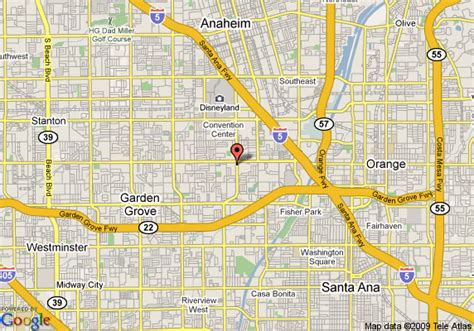 Garden Grove Ca Directions Map Of Crowne Plaza Resort Anaheim Garden Grove