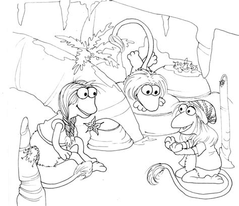 fraggle rock printable coloring pages coloring pages for