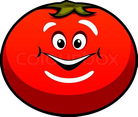 Graphics Design Jobs At Home by Cute Fat Ripe Red Juicy Cartoon Tomato Vegetable With A