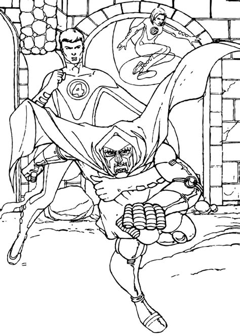 doctor doom coloring page the end of doctor doom coloring pages hellokids com