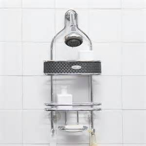 samsonite chrome steel shower caddy contemporary