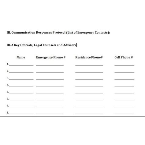Free Downloadable Template A Plan For Crisis Management Communications Manual Template
