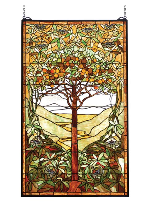 James Moder Chandelier Meyda 74065 Tiffany Tree Of Life Stained Glass Window
