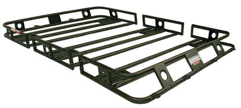 Roof Rack Suburban by Smittybilt 45655 Black Defender Bolt Together Roof Rack