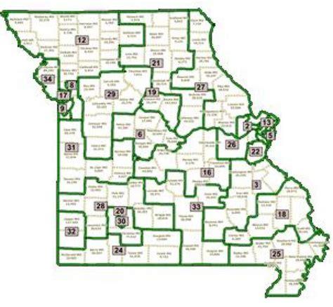 missouri district map missouri senate district map swimnova
