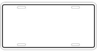 printable license plate template license plate template clipart best