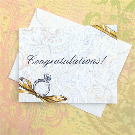Wedding Congratulations Formal by Congratulations On Your Engagement Wedding Greeting By