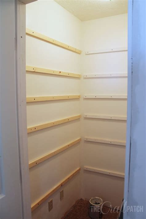 Built In Wooden Shelves Closet How To Build Pantry Shelves Hometalk