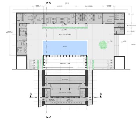 Floor Plan Of A Mosque by Man 231 O Architects Conceptual Mosque