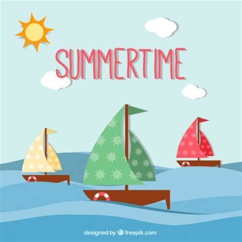 sailboat no background summertime background with sailboats vector free download