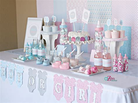 Baby Shower Reveal Ideas by Centerpiece Ideas For Dining Table Gender Reveal