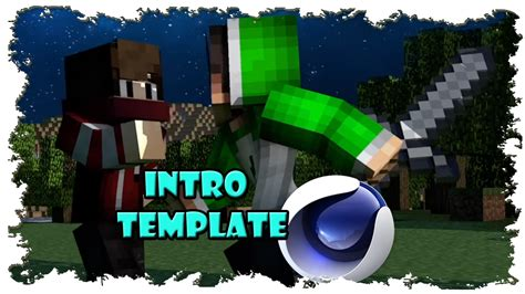 intro template after effects minecraft minecraft intro template free cinema 4d after effects
