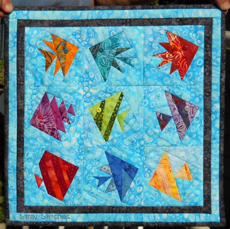 Fish Quilts Patterns by Stray Stitches Small Quilts