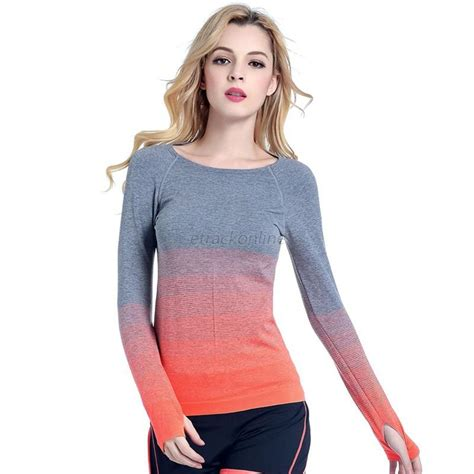 Fitness T Shirt Workout Compression Running Sleeves Tops fashion s sports workout sleeve tops