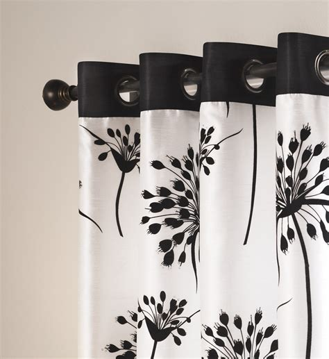 black and white drapery panels grommet black and white window panels make any room look