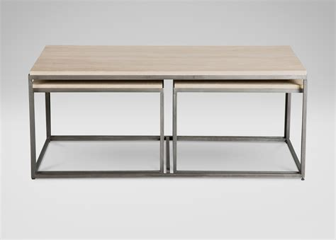 Ethan Allen Coffee Table With Drawers Minimalist Glass Coffee Table With Adjustable Tubular Bernhardt Metal Side Table