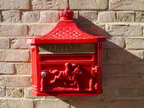 Backyard Accessories red wall mount residential mailboxes the decoras