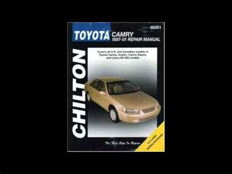 toyota camry 1997 2001 service repair manual pdfsr com toyota camry chiltons 1997 2001 repair manual youtube