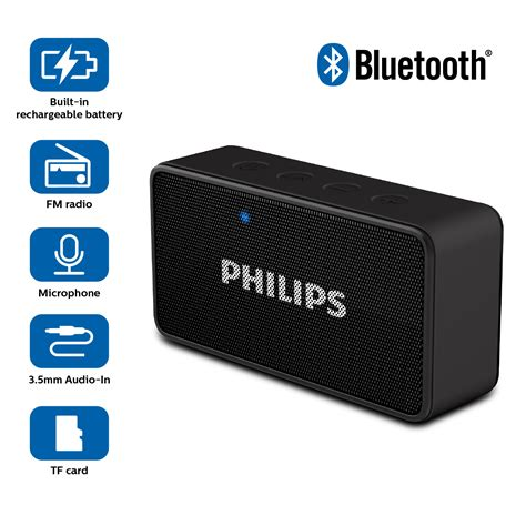 bluetooth speaker with lights amazon philips bt64r portable bluetooth speakers amazon in