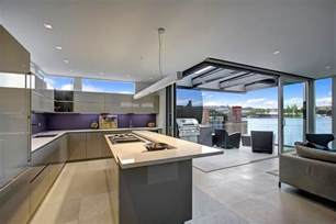 Home Interior Kitchen floating home interiors for west coast living