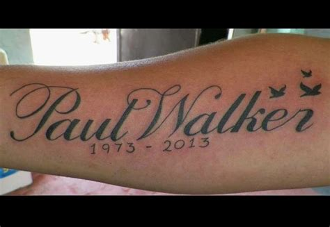 vin diesel s tattoos paul walker in memory of paul walker