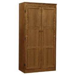 Wood Kitchen Storage Cabinets Concepts In Wood Multi Use Storage Pantry In Oak Kt613a 3060 D The Home Depot
